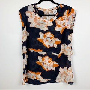 CAbi Blossom Floral Tiered Top